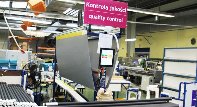 Stanowisko kontroli jakości produktów